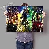 LKJHGU Sin Marco Classic Hollywood Superhero HD Movie Poster Superpower Wall Art Picture Sala de Estar Dormitorio decoración del hogar Lienzo Pintura 60 * 80cm I