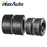 MaxAuto 16x6.5-8 & 22x9.5-12 Lawn Mower Tires 4PR(2 Front tires+2 Rear Tires)