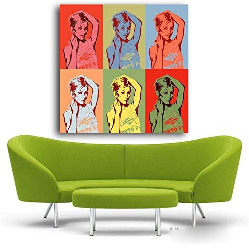 Nieuwe verkoop Fallout schilderijen Pop Art Studio voorbeelden Wall Art foto van Andy Warhol beroemde enorme schilderij Prints Decor_15.7x15.7inch