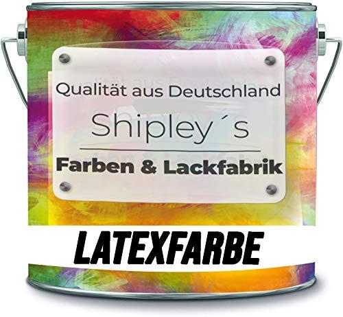 Shipley's Farben & Lackfabrik Latexfarbe Dispersionsfarbe strapazierfähige abwaschbare Wandfarbe in vielen exklusiven Farbtönen (2 l, Schwarz)