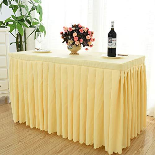 DJUX Mantel de Mesa de Conferencia Hotel Conferencia y exposición Cubierta de Mesa de Color sólido Mantel Largo Mantel de Actividad Mantel 40 * 140 * 75 cm