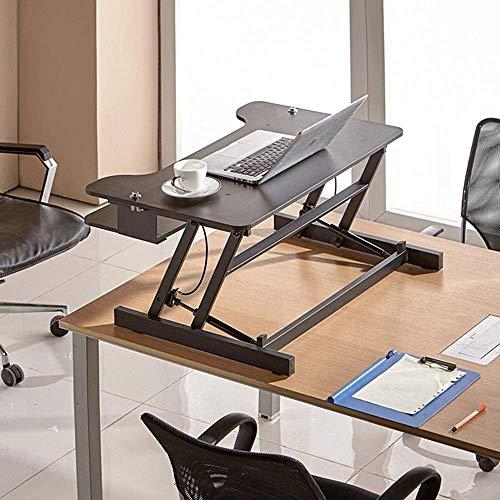 Escritorio de pie Escritorio de pie ajustable Convertidor de escritorio de pie para sentarse con bandeja de teclado para el hogar y la oficina No requiere instalación para todas las estaciones de