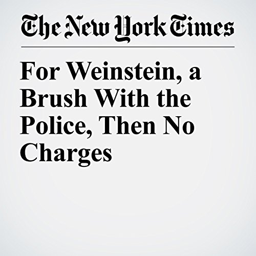For Weinstein, a Brush With the Police, Then No Charges copertina