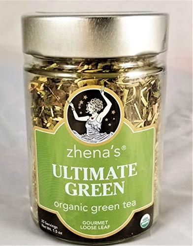 Zhena's Ultimate Green Tea Organic, Loose Leaf, 1.5 oz. Case of 4