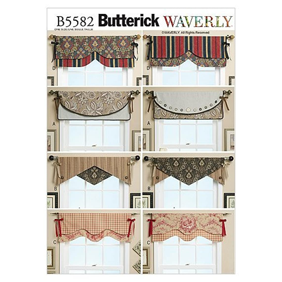 BUTTERICK PATTERNS B5582 Reversible Window Valance, One Size Only