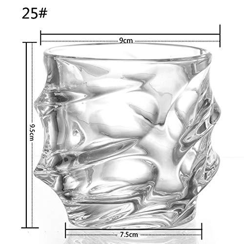 Old Fashioned Glass - Set di bicchieri da whisky irlandese, con base in legno, regalo unico per gli amanti del...