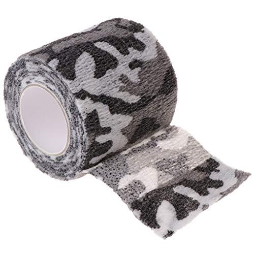 chenpaif Tattoo Auto-adhésif Non-tissé Bandage élastique Grip Tube Cover Wrap Sport Tape Noir et Blanc Gris