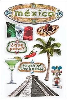 Paper House Productions Mexico 3D Stickers , Multi-Colour, PHSTDM-0021E, 22.4 x 12 x 0.5 cm