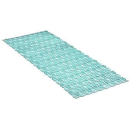 Tatay Alfombra de Bañera Antideslizante de PVC con Ventosas, Resistentes a Moho y Microbios, Anti-Bacteriano, Diseño Piscis, Turquesa. Medidas 97 x 36 cm