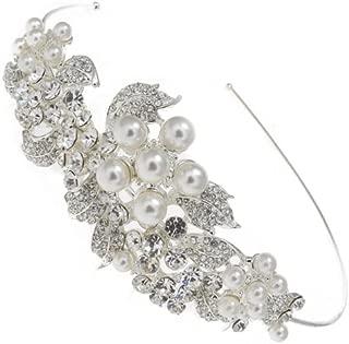 Bridal UK Silver clear crystal//diamante//rhinestone oval or rectangle hair clip