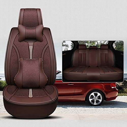 Great Features Of Car Seat Cushion Car Seat Cover All-Inclusive Seat Cover,Leather Stitching Linen C...