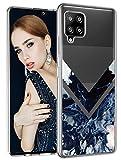 Compatible con Samsung Galaxy A42 5G, funda de silicona mármol 360 Case transparente TPU flexible Galaxy A42 perro funda de silicona Cover mariposa funda funda para Samsung A42 5G teléfono móvil niña