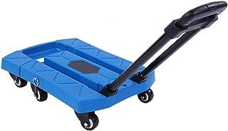 CLAUKING Transportwagen, opvouwbaar, met 6 wielen, met verstelbare handgreep, voor vervoer van bagage, verhuizing, reizen,...
