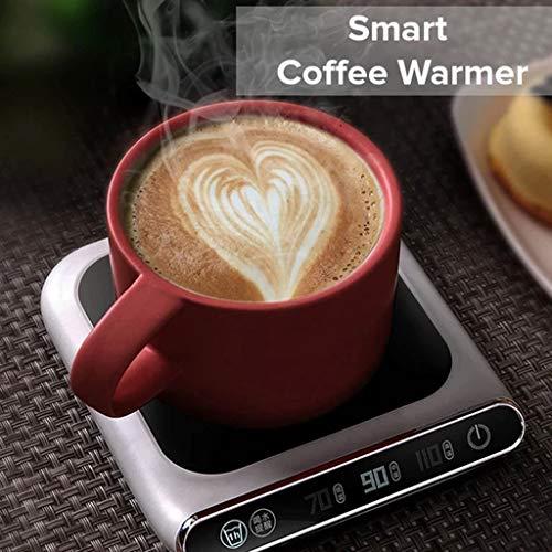 Luccase Smart Tassenwärmer 132X118 × 20mm Glaskeramik Glasscheibe Kaffee Wärmer Konstante Temperatur USB Wärmedämmung Basisisolierung Getränkewärmer , Weiß