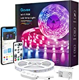 Govee WiFi Ruban LED, Smart Bande LED 5m RGB Multicolore App Contrôle, Bande Lumineuse Compatible avec Alexa et Google Home, Décor pour Maison Cuisine