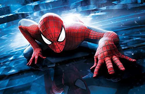 Spiderman Tortenaufleger, Rechteckig A4 - Geburtstag Tortenbild Zuckerbild Tortenplatte Oblate Kuchenzuckerplatte