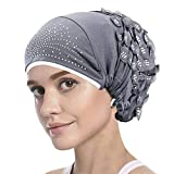 Chapeau de Chimio Réglable Bonnet Printemps-Ete en Soie de Glace Foulard Souple Elastique...