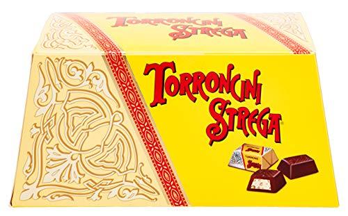 Torroncino Mignon Strega Pz 27 Made in Italy. Torroncini Piccoli Friabili allo Strega ricoperti di Cioccolata Fondente. Idea Regalo o da condividere con Familiari ,Amici e le Persone Amate