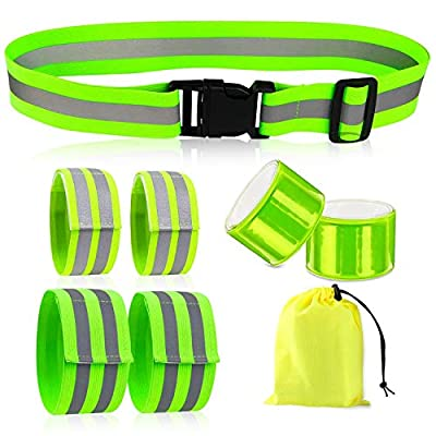 Reflective Bands for Wrist, Arm, Ankle, Leg, High Visibility Reflective Running Gear for Men and Women, Safety Reflective Straps Bracelets for Night Running, Cycling, Walking.