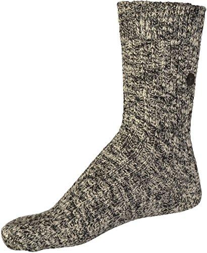 BIRKENSTOCK Weiblich Fashion Slub Socken, Black Gray (1002435), 39/41 EU