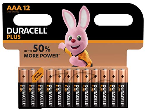 Duracell Plus Power DUR018938 AAA Batteries Pack of 8 + 4 - 12 Batteries