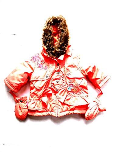 Pampolina Mädchen Winterjacke mit Handschuhen,apricot 11015 gr.68/74