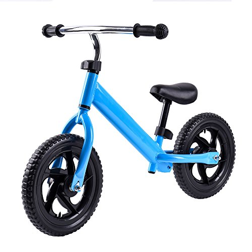 RUNACC Lightweight Balance Bike No Pedal Walking Bicycle Practical Balance Training Bike with Steel Frame, Adjustable Handlebar and Bike Saddle, Suitable for Children from 2 to 6 Years Old, Blue