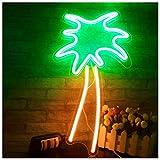JUMRO Kokosnussbaum Neon Signs LED Neonlichter Kunst Wand Dekorative Lichter Neonlichter Für Zimmer...