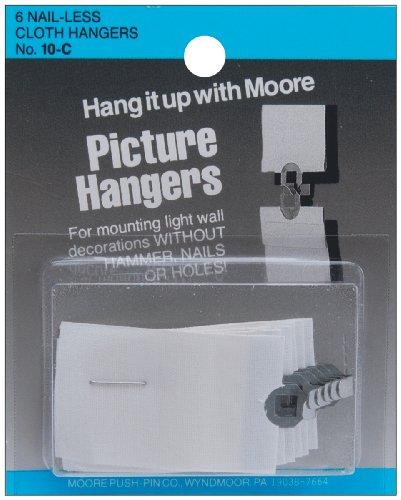 Moore Cloth Picture Hangers Pkg 6