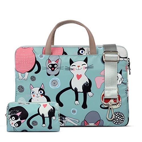 Bolso de Hombro para Ordenador portátil para Macbook Air Pro 12/13/14 / 15,6 Pulgadas Bolso de Mano Impermeable para Ordenador portátil maletín para Mujer-Segundo_11-12 Pulgadas