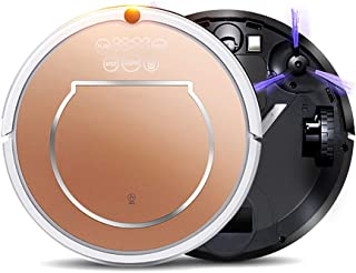 Robot Dual-Action Robot Vacuum, Cleaner with 2-Hour Plus of Cleaning Time, Smart Sensor Navigation and Remote Control,Gold