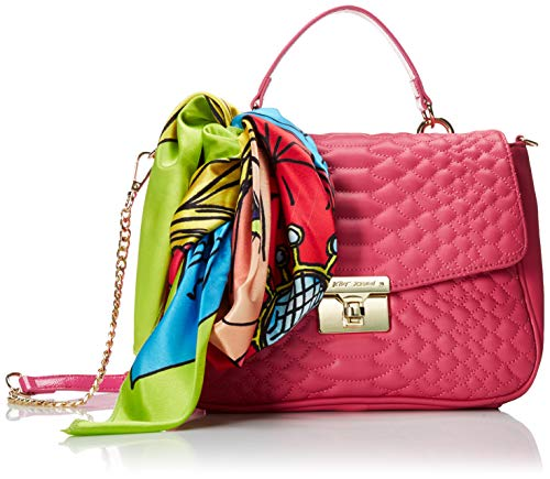 Betsey Johnson Cobra Flap Top Handle Satchel, Pink