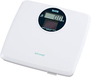 タニタ 体重計 デジタル ソーラー ホワイト HS-302 WH 環境に優しいソーラーバッテリー 電池不要