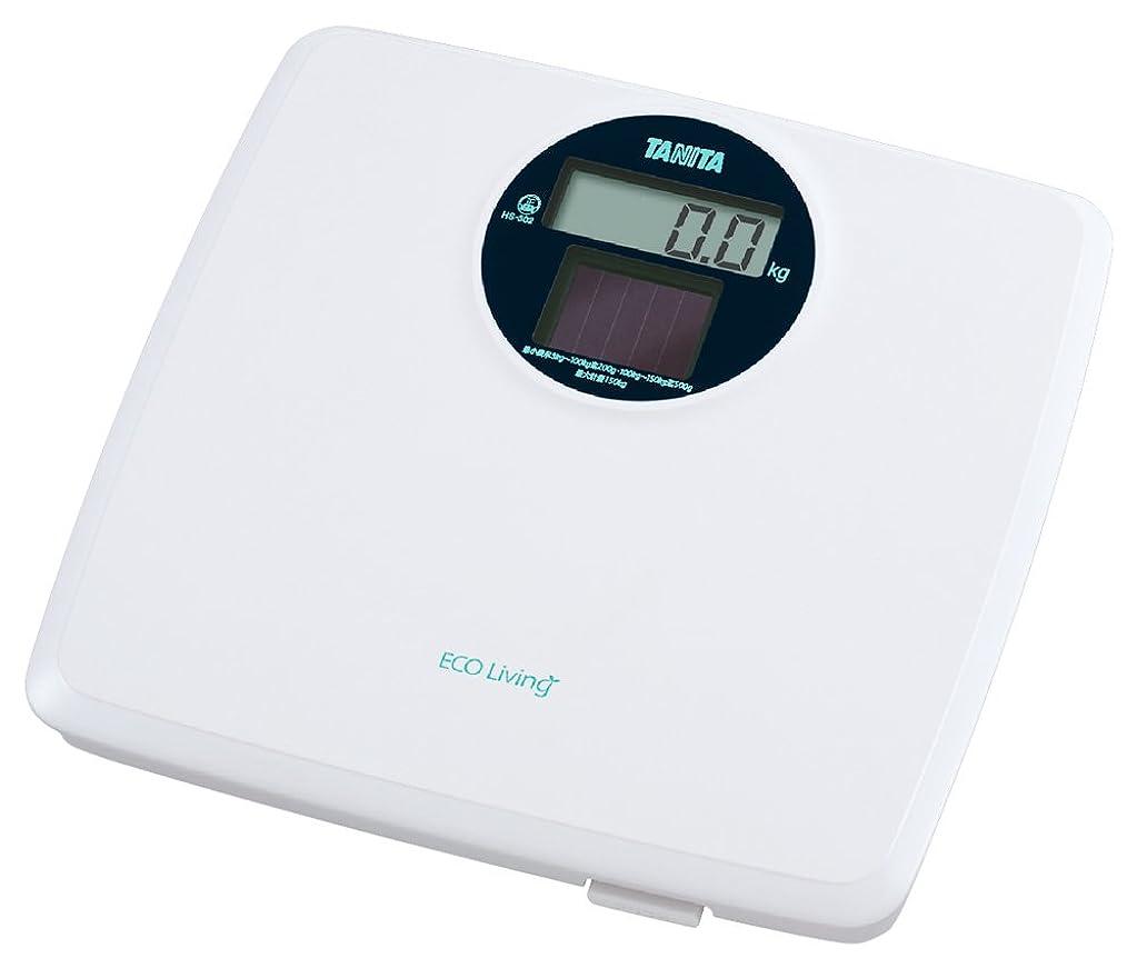 事前フルーティーコマースタニタ 体重計 デジタル ソーラー ホワイト HS-302 WH 環境に優しいソーラーバッテリー 電池不要