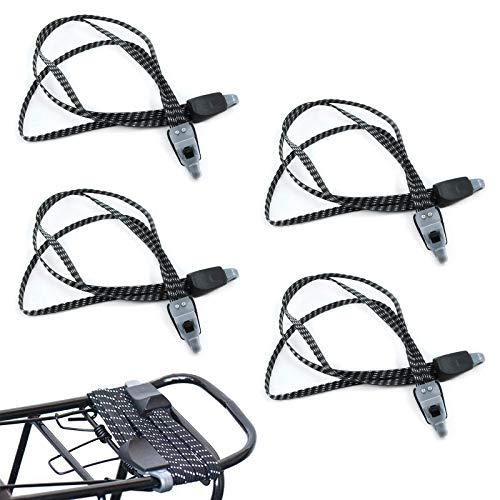 Olymajy 4PCS Fahrrad spanngurt Gummi,gepäckspanner,spanngurt Fahrrad,mit Haken Gepäckträger Spanngurt sicheres Seil, widerstandsfähig und vielseitig, perfekt für Transport, Fahrrad und Beladung.