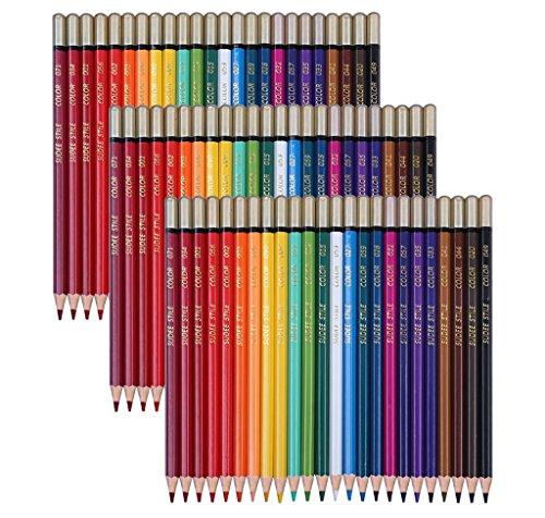SUDEE STILE 24 Colori 3 Set Matite Colorate Professionali da Disegno Adulto Non Duplicati