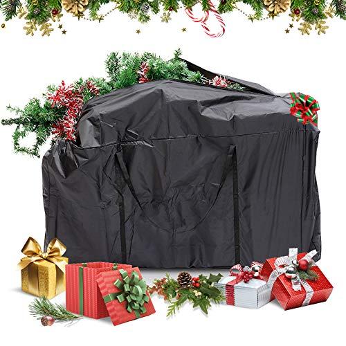 GEMITTO Borsa Porta Albero Natale Grande, Custodia albero di natale per la conservazione di albero natale di, Natale e decorazioni artificiali Impermeabile antipolvere Nero 173x76x51cm