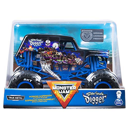 Monster Jam Son-uva Digger Official 1:24 Scale Diecast Monster Truck by Spin Master