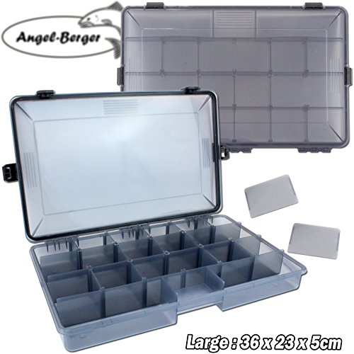 Angel-Berger Pro Tackle Box Zubehörbox Köderbox wasserdicht (Large)
