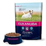 EUKANUBA - Croquettes pour Chien de Petite Race - 100% complète et équilibrée. SANS arôme artificiel ajouté, colorant artificiel ajouté. Riche en poulet - calcium fibres FOS DHA – sac fermable de 3kg