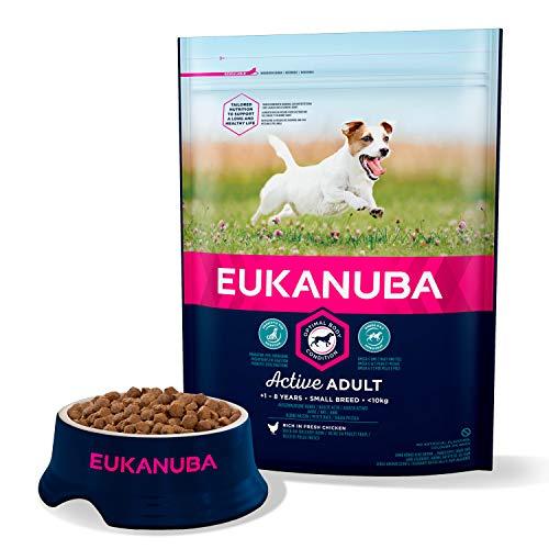 professionnel comparateur Eukanuba – Nourriture sèche pour petits chiens – 100% parfaite et équilibrée.  Pas de parfum… choix