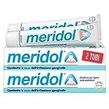 meridol, dentifricio, combatte i batteri causa dell'irritazione gengivale - bitubo