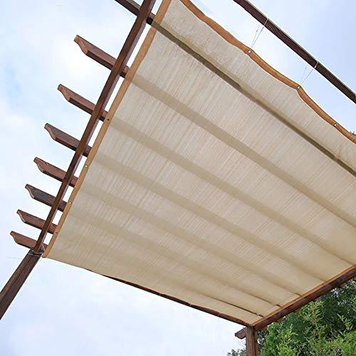 R&F - Pantalla de tela UV con ojales, 90% de malla de protección solar, cubierta de planta beige para pérgola, patio o patio trasero, 2×3m