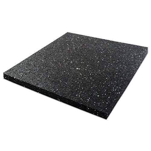 Dalle anti vibration etm pour machine à laver/sèche linge | épaisseur 1cm | attenue les vibrations - évite dérapage | isolant accoustique - 60x60cm