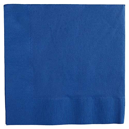 amscan 40 cm 2 Plis Grandes Serviettes de Table, Bleu Royal