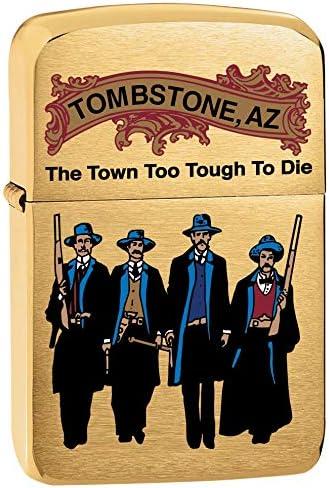 Zippo Lighter: Tombstone Arizona Brass 80813 Brushed - 正規取扱店 使い勝手の良い