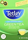 Tetley Green Tea, Decaffeinated ‑ 72 bags, 4.57 oz box