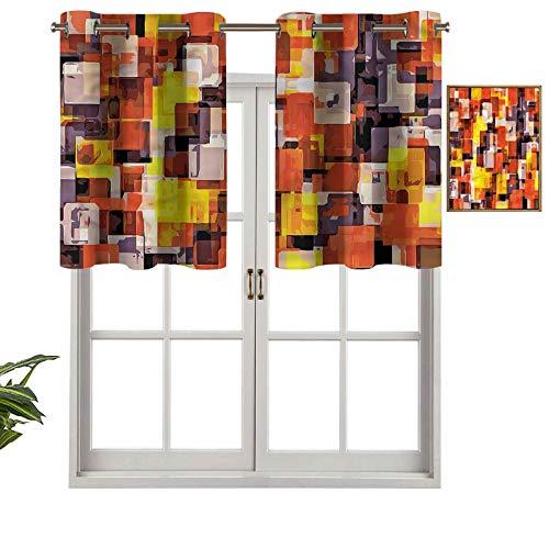 Hiiiman Cenefa de ventana de privacidad para interiores, diseño moderno, juego de 2, 137 x 91 cm para puerta corredera de patio o comedor