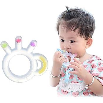 ANGELBLISS Anneaux de dentition Anneau Dentition Bebe Silicone Refrigerants,