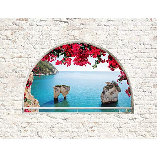 Fototapete Fenster zum Meer - Vlies Wand Tapete Wohnzimmer Schlafzimmer Büro Flur Dekoration Wandbilder XXL Moderne Wanddeko - 100% MADE IN GERMANY - 9284010a